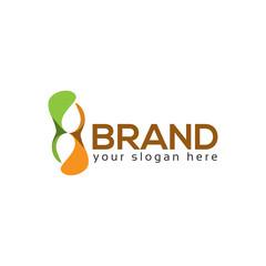 Hourglass logo vector, flat logo design