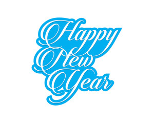 happy new year typography typographic creative writing text image icon 5