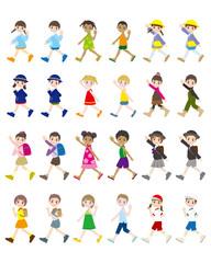 様々な人々のイラスト / 子供