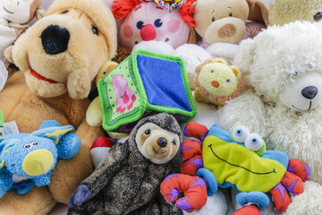 Cute Collection of stuffed animals and toys