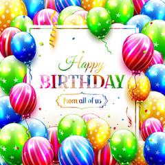 Colorful birthday greeting card