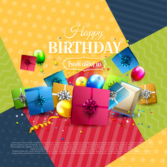 Modern birthday greeting card