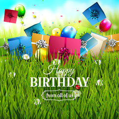 Colorful Birthday template