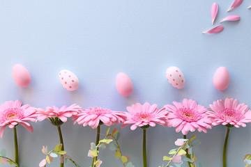 Wall Mural - ピンクのガーベラ イースターエッグ