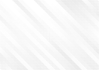 Grey and white tech geometric stripes abstract background