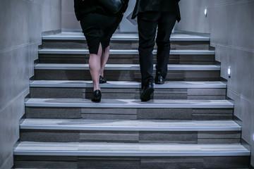 Business walking.