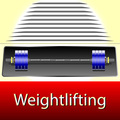 Weightlifting, Realistic illustration sport equipment, gym barbell