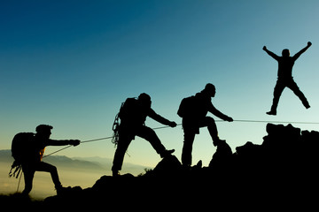 professional climbing team and success