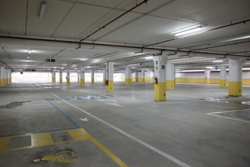 covered parking empty mall