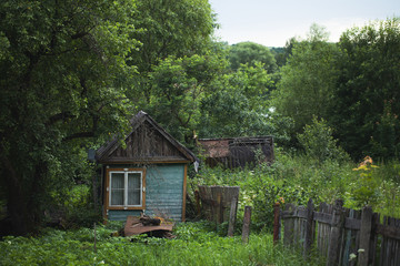 A small village house in the wilderness.