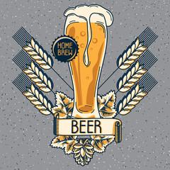 Home brew craft beer emblem