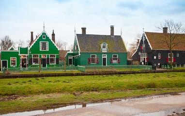 Street view of Zaanse Schans, Holland