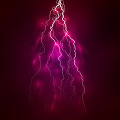 Vector bright lightning on a background.
