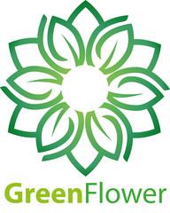 Vector abstract, green lily symbol