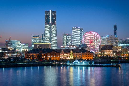横浜みなとみらい全館ライトアップの夜景3