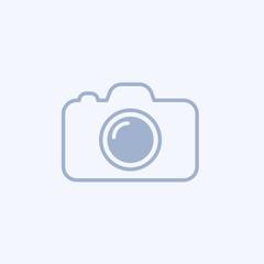 Camera icon. Flat camera sign isolated