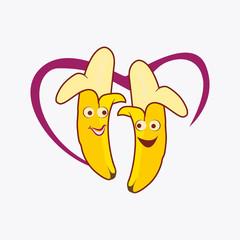 couple banana cartoon