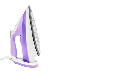 Steam iron isolated on a white background. copy space, template