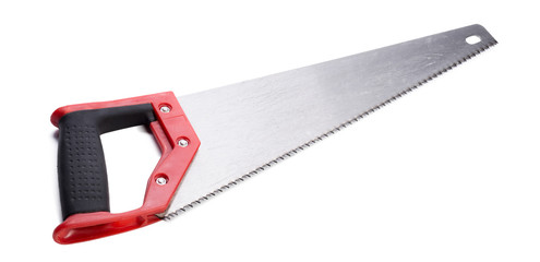 Hand saw isolated on white background.