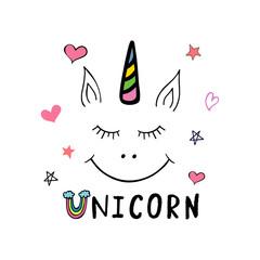 Unicorn. Typography poster.