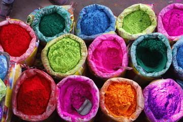 bright Indian colors , Jaipur, Rajasthan, India