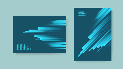 Set of Abstract Background . Template for your Design . Isolated Vector Elements