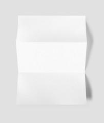Blank folded White A4 paper sheet mockup template