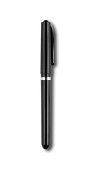Black felt pen isolated on white