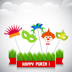 nice and beautiful abstract for Happy Purim with nice and creative design illustration in a background.