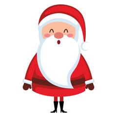 cute santa claus comic character