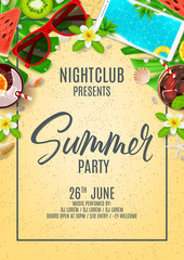 Poster invitation for summer party