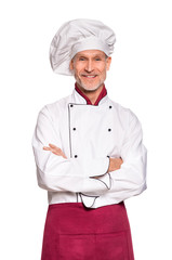 Senior chef smiling