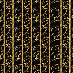 Bamboo background vector. Seamless bamboo wallpaper illustration.