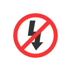 Lightning symbol. Photo sign. No Flash. Electric sign. Vector illustration. Flat design.