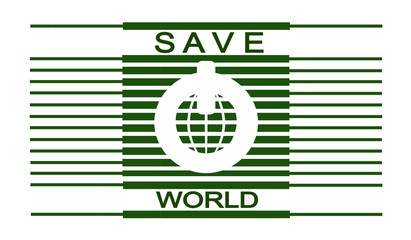 Save the world. Power button.