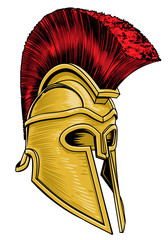 Ancient Greek Trojan Spartan Gladiator Helmet