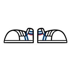 Cartoon Pair of Sneakers