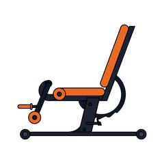 Gym bench equipment vector illustration graphic design