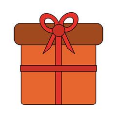 Gift box symbol vector illustration graphic design