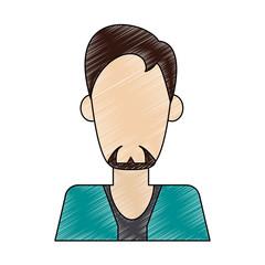 Man faceless avatar vector illustration graphic design