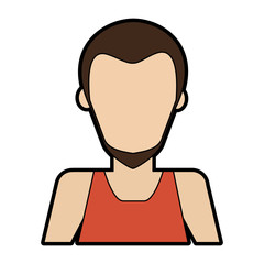 Man faceless avatar vector illustration graphic design