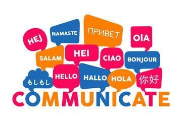 International language communication concept