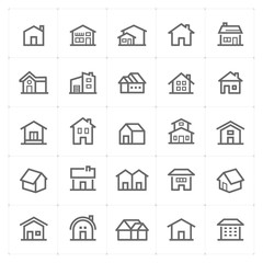 Mini Icon set – Home icon vector illustration
