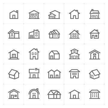 Mini Icon set – Home icon vector illustration