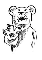 Ijsbeer illustratie