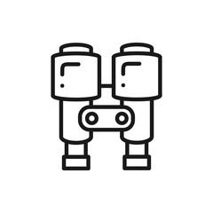 Binoculars Line Icon. Lantern. Optical Spy Sign and Symbol.