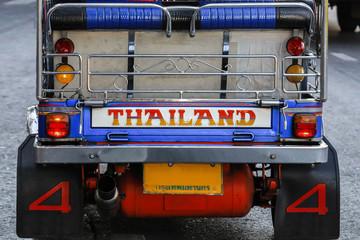 TukTuk auf der Straße in Bangkok, Detailaufnahme