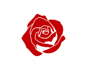 Red Rose Flower Sign Symbol Vector