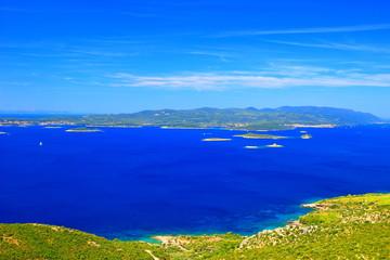 Island Korcula and peninsula Peljesac, Adriatic sea, Croatia