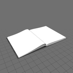 Open bound sketchbook (flat) 2